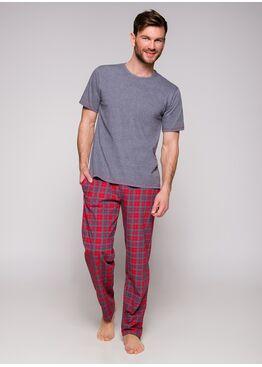 Пижама мужская 2199 19 Jeremi Серый/красный