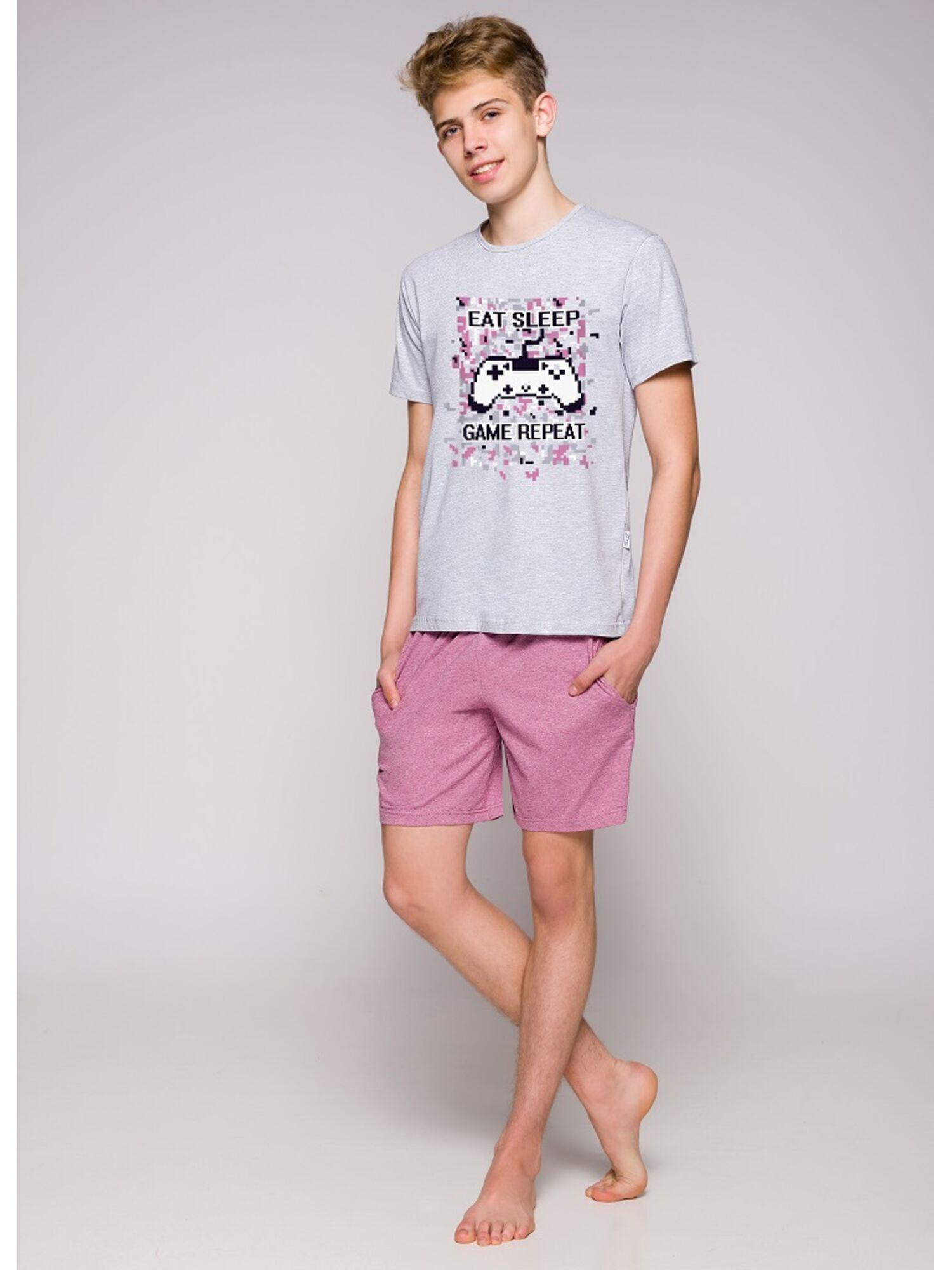 Пижама подростковая 1109 19 Karol серый/розовый