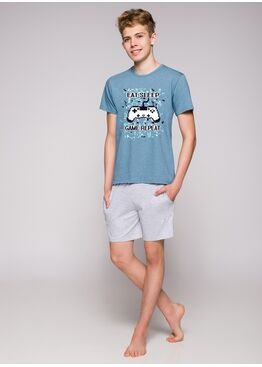 Пижама подростковая 1109 19 Karol серый/синий