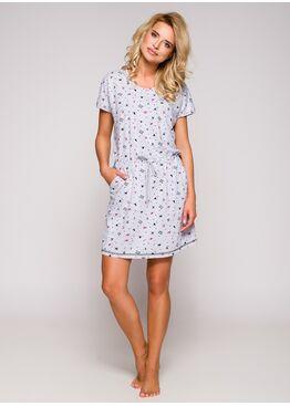 Сорочка/Платье домашнее 2286 19 Ksara серый/розовый