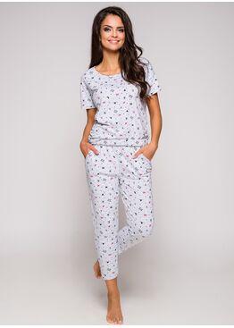 Пижама женская 2277 19 Ksara серый/розовый