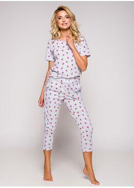Пижама женская 2277 19 Ksara серый/красный