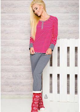 Пижама 2120 17/18 Lisa красный/серый