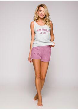 Пижама женская с шортами 2295 19 Morgan серый/розовый