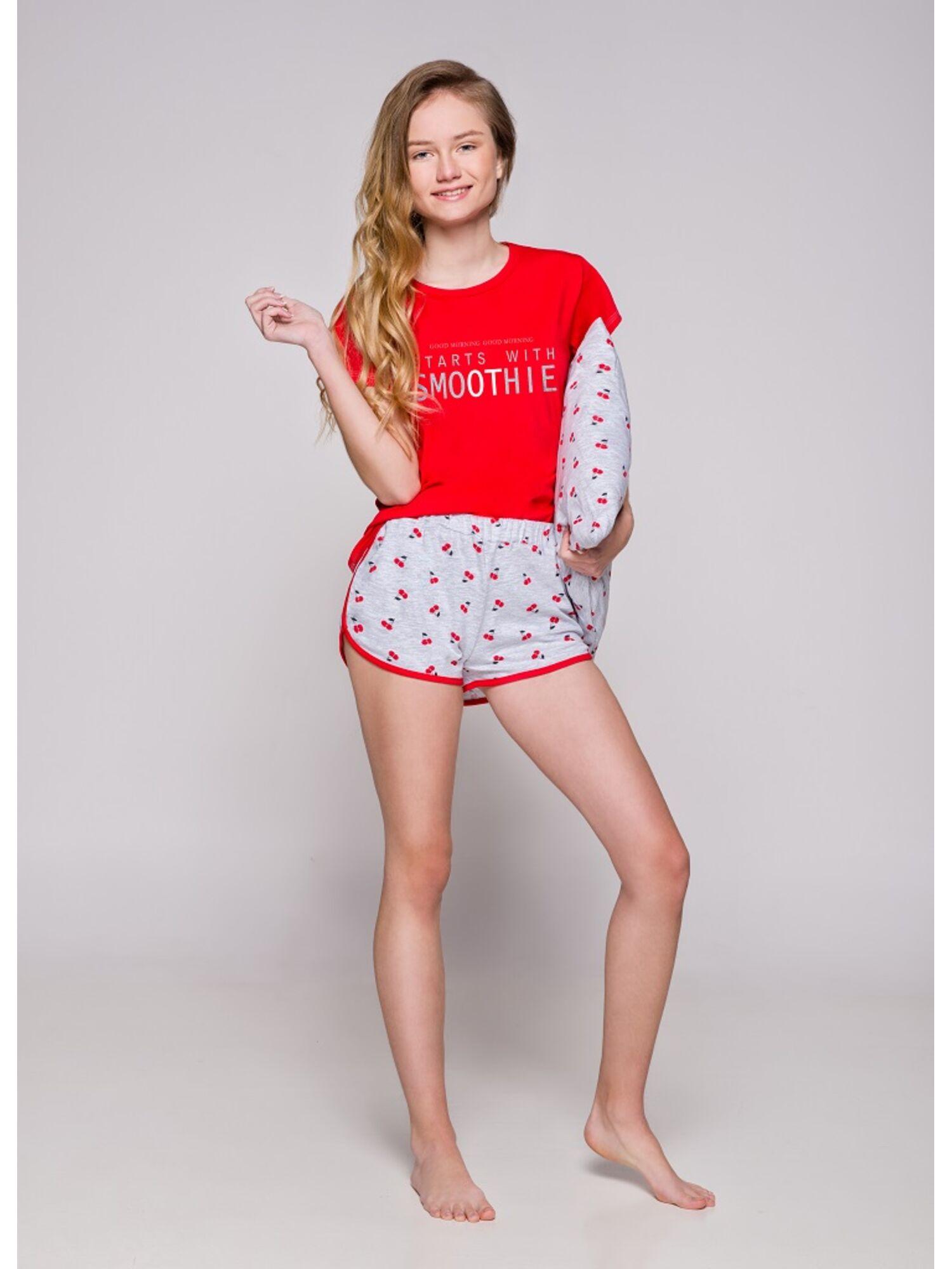 Пижама подростковая 2306 19 Nessa красный/серый