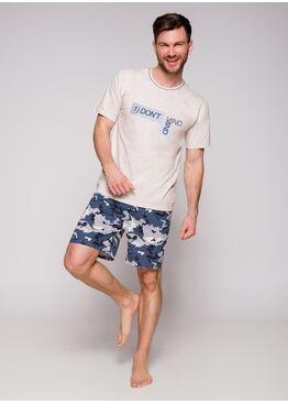 Пижама мужская 2086 19 Szymon экри/синий