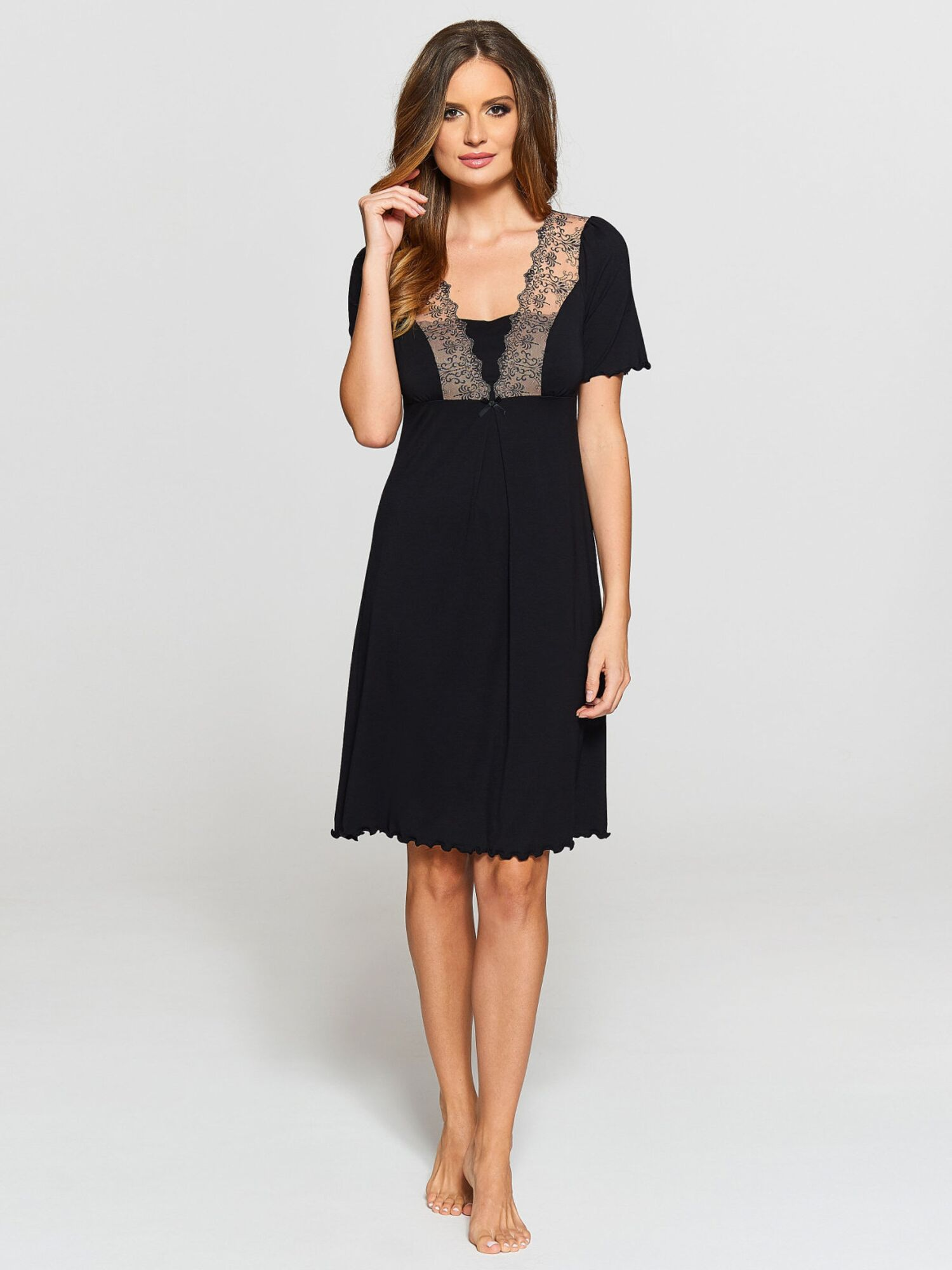 Сорочка женская IC 021 черный