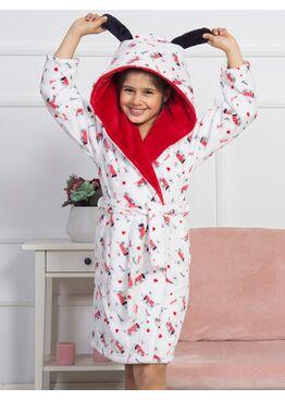 №160466 1021 Халат Soft детский с капюшоном