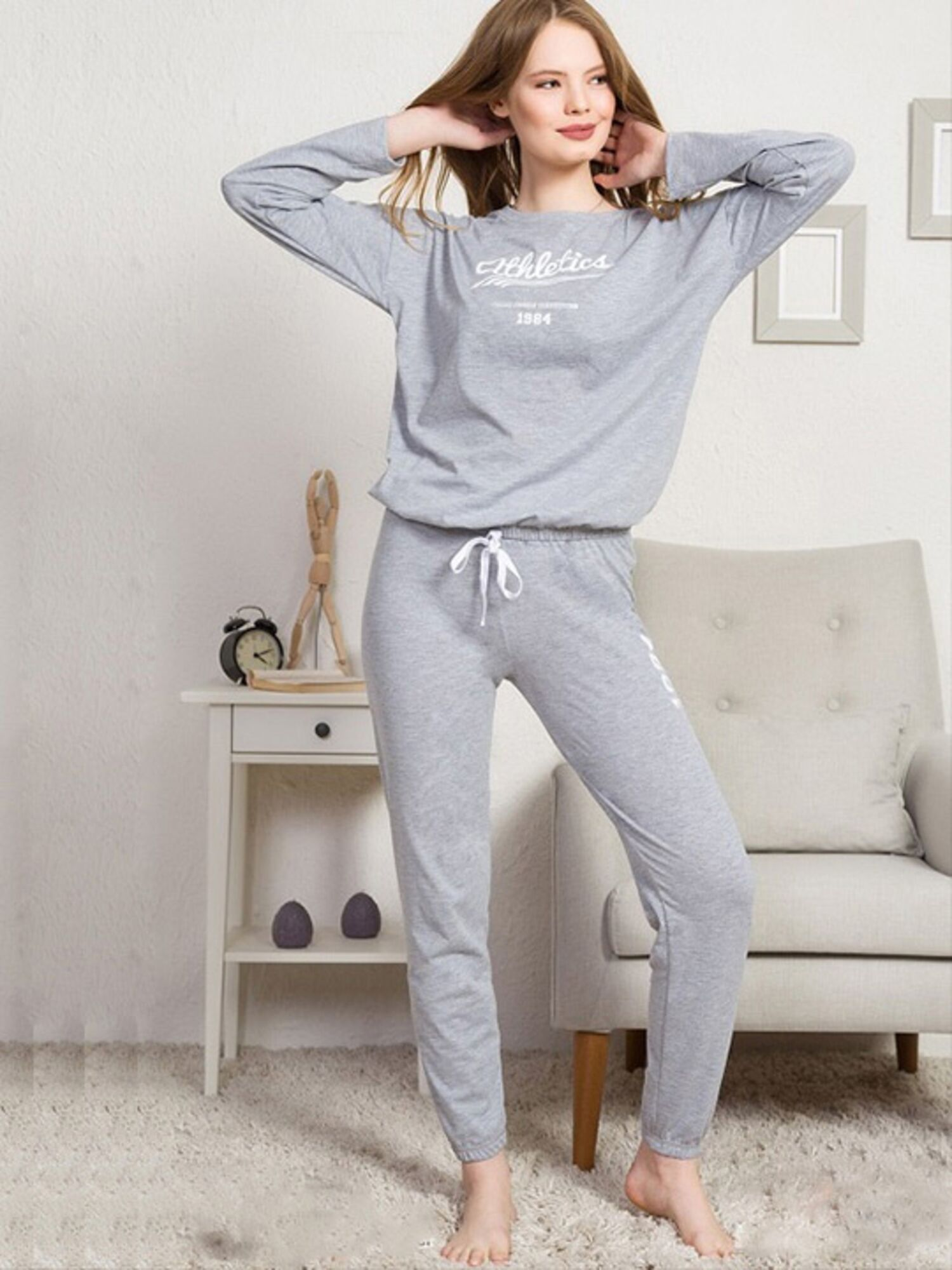 Комплект с брюками №003022 0000, серый, Vienetta