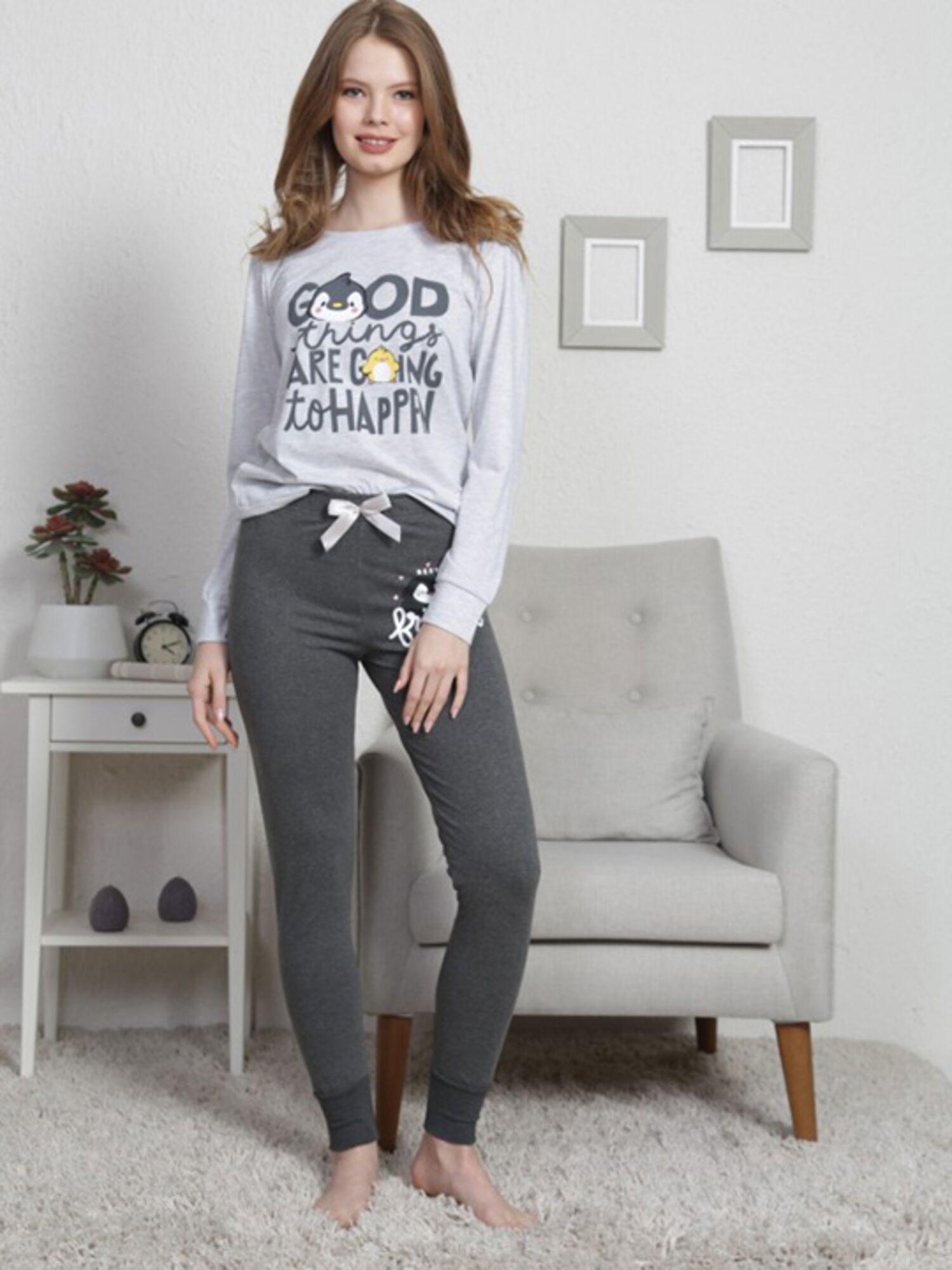 Комплект с брюками №003026 0000, серый, Vienetta