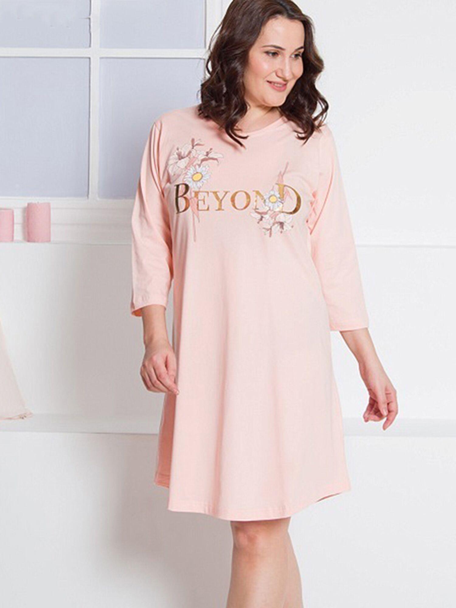 Сорочка женская хлопковая №002071 0000, розовый, Vienetta
