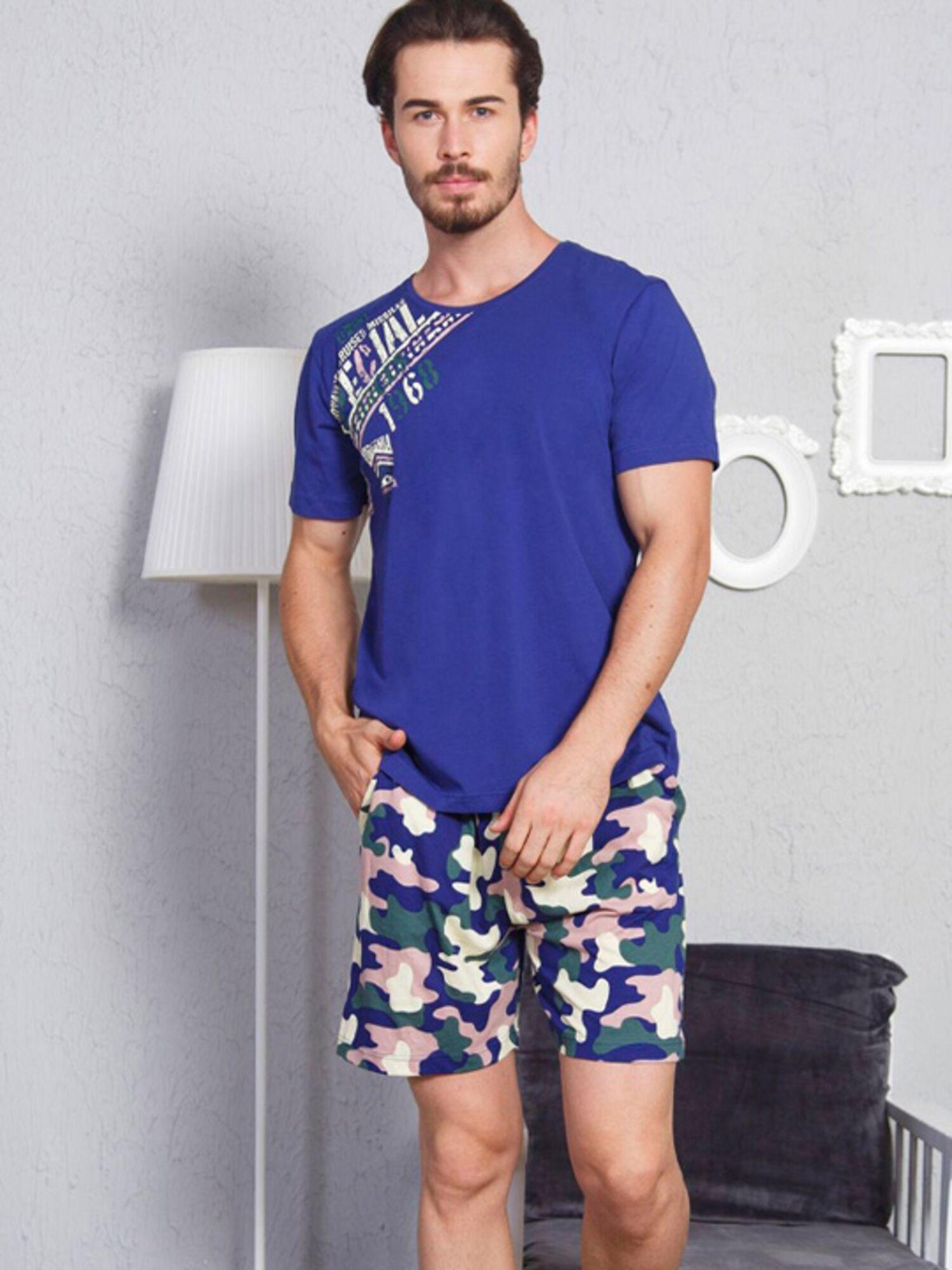 Пижама мужская хлопковая с шортами 807028 4094, VIENETTA