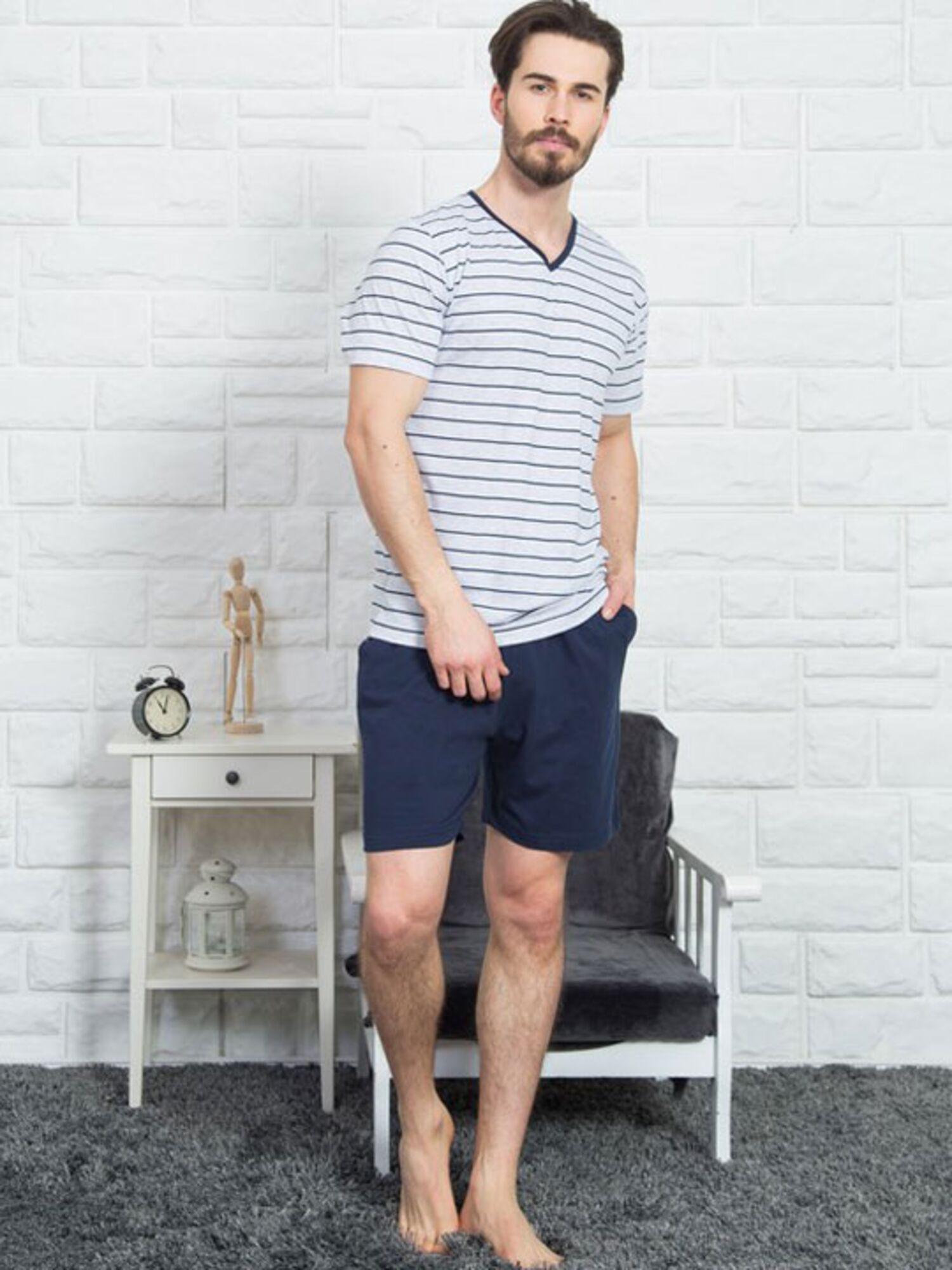 Пижама мужская хлопковая с шортами 812134 1290, VIENETTA