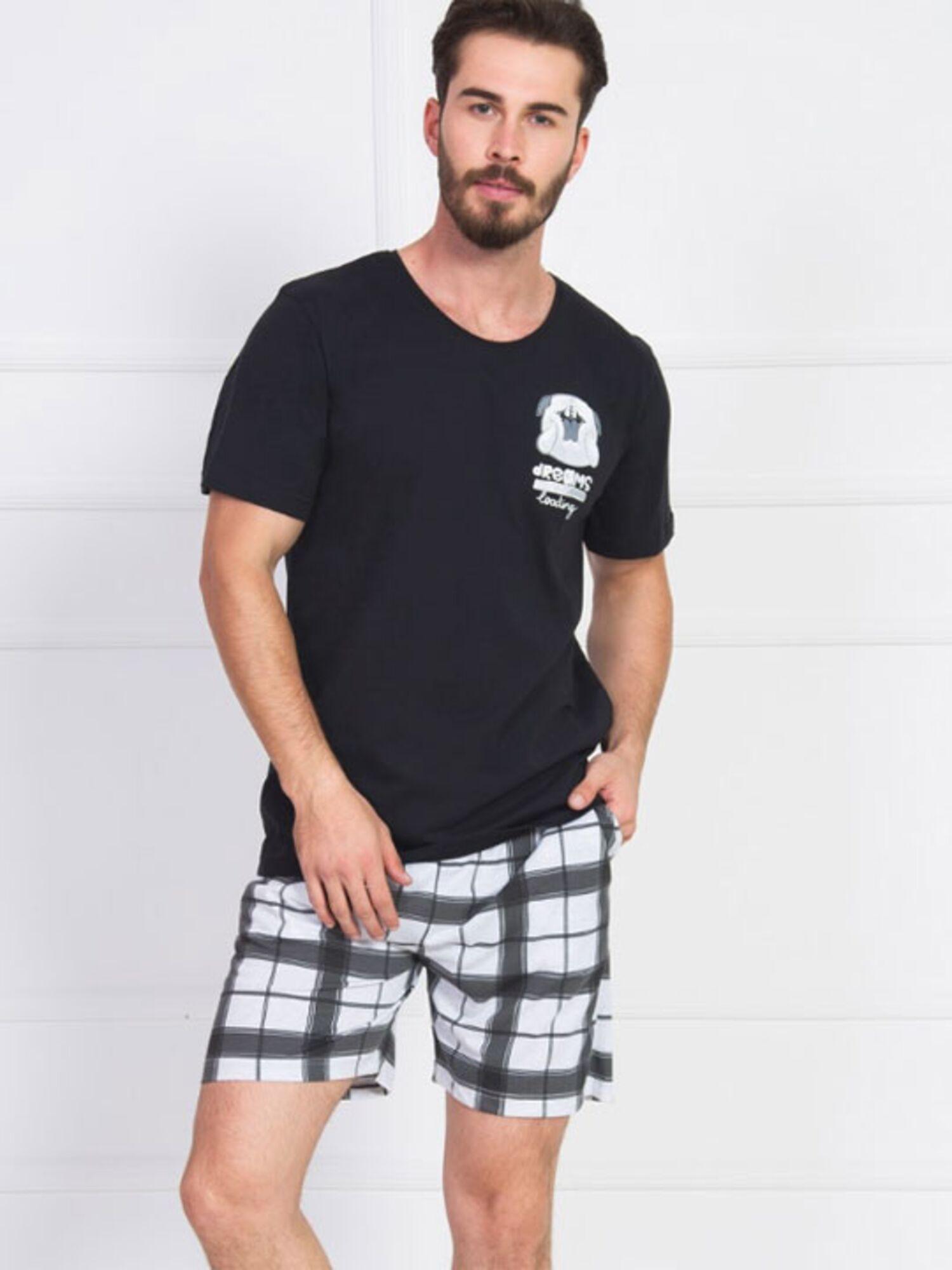 Пижама мужская хлопковая с шортами 906011 2503, VIENETTA
