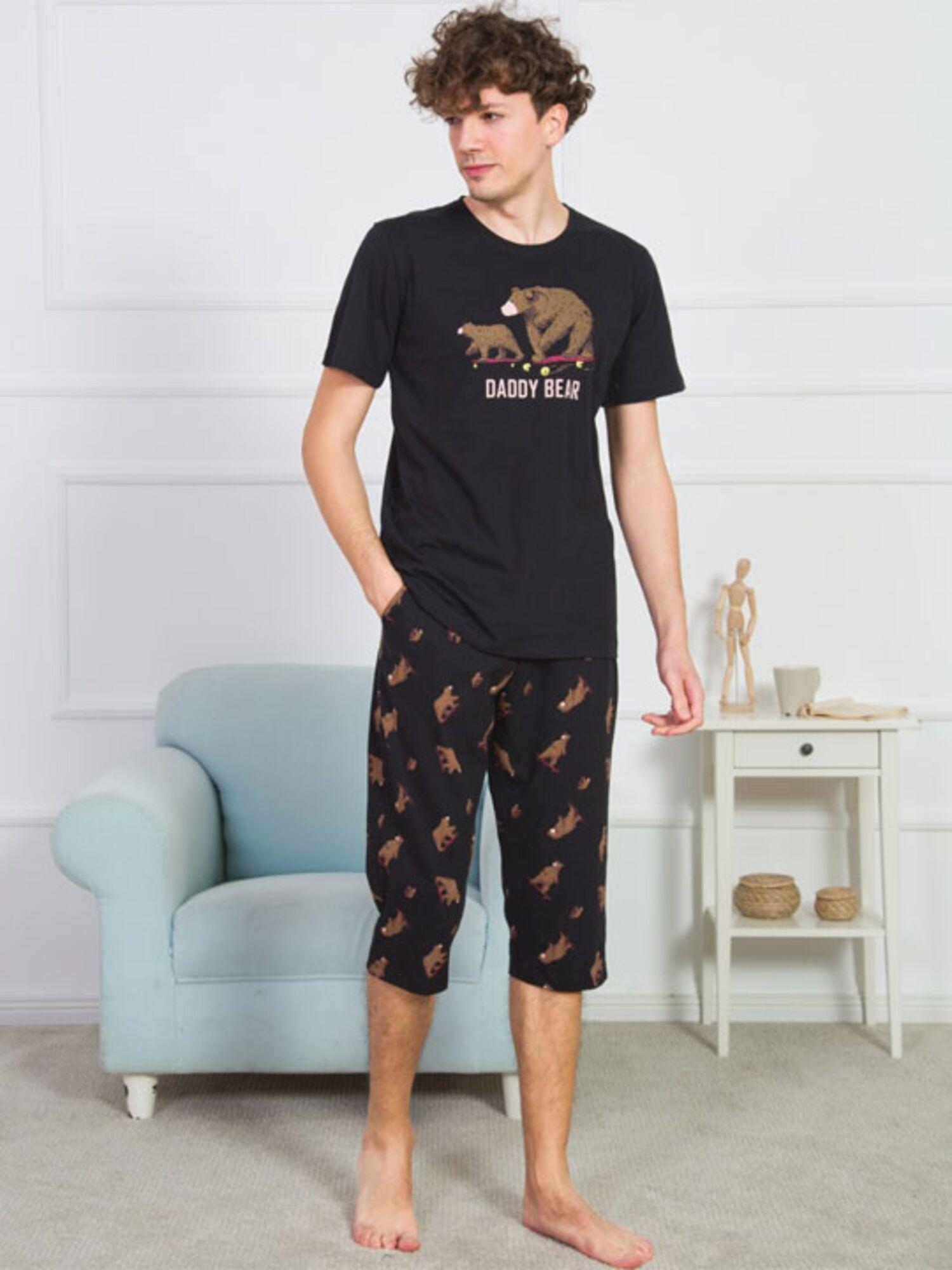 Пижама мужская хлопковая с бриджами 909159 1323, VIENETTA