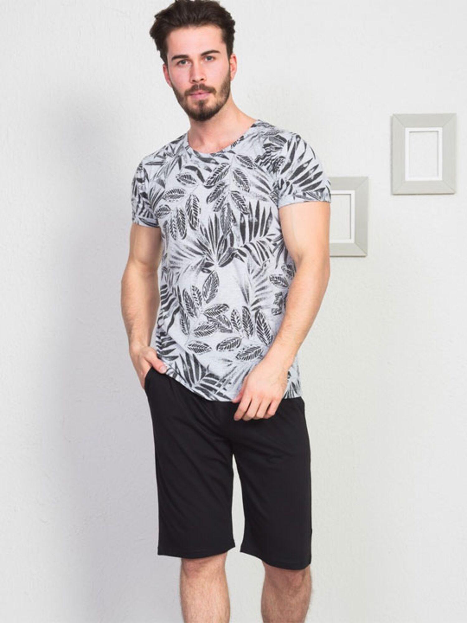 Пижама мужская хлопковая с шортами 910114 1729, VIENETTA
