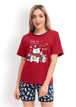 Женская пижама с шортами CLE LP19-760/1, Clever