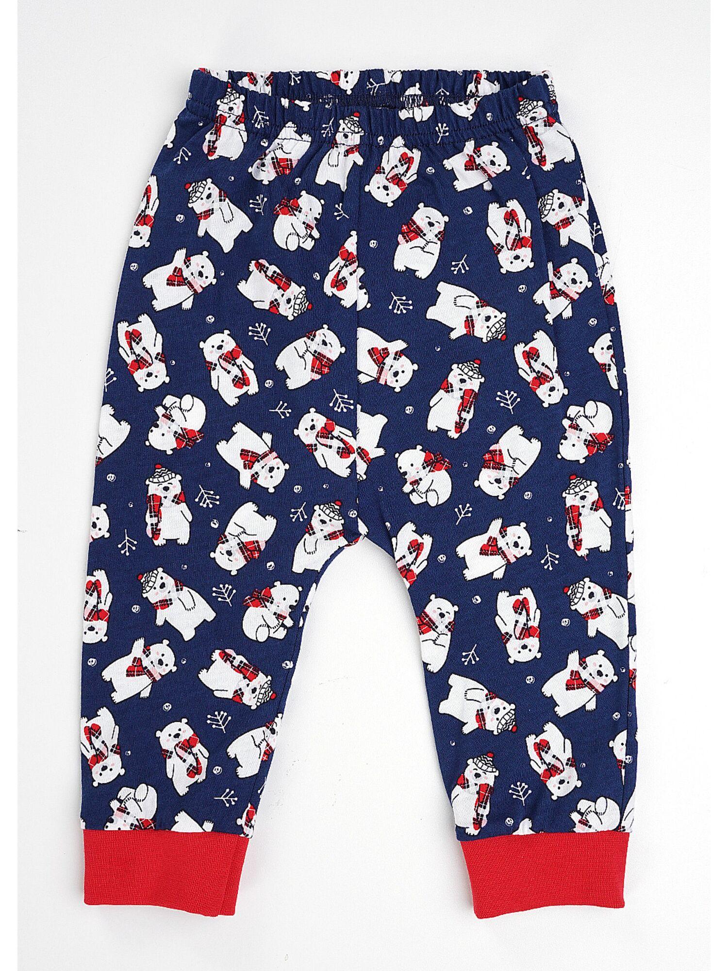 Детская хлопковая пижама CLE 793526/НГ ленивец, красный/синий, Clever