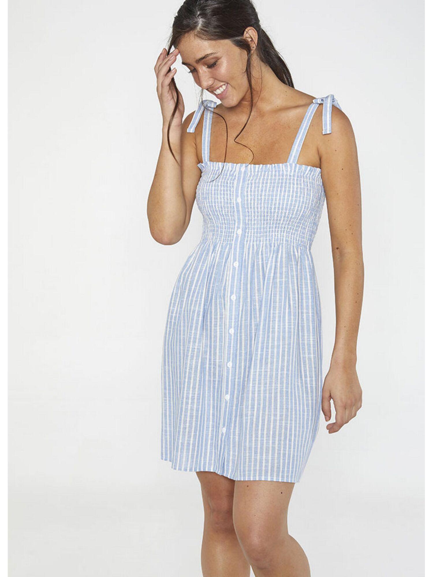 Женское платье пляжное из вискозы 85702 голубой, Ysabel Mora (Испания)