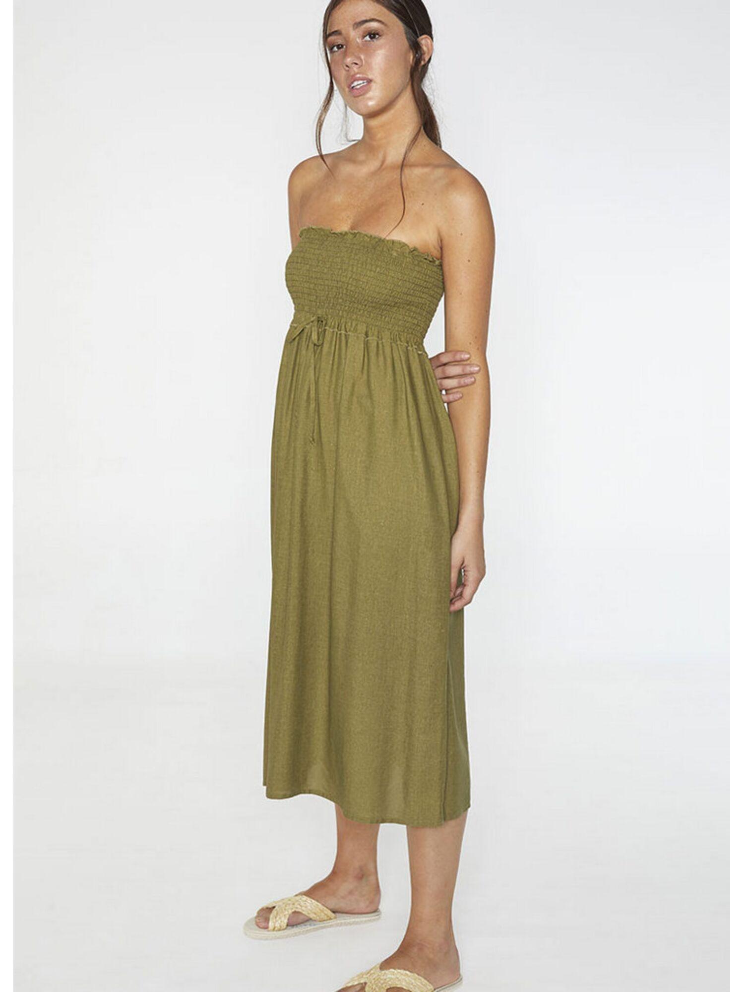 Женское платье пляжное из вискозы 85707 зеленый, Ysabel Mora (Испания)