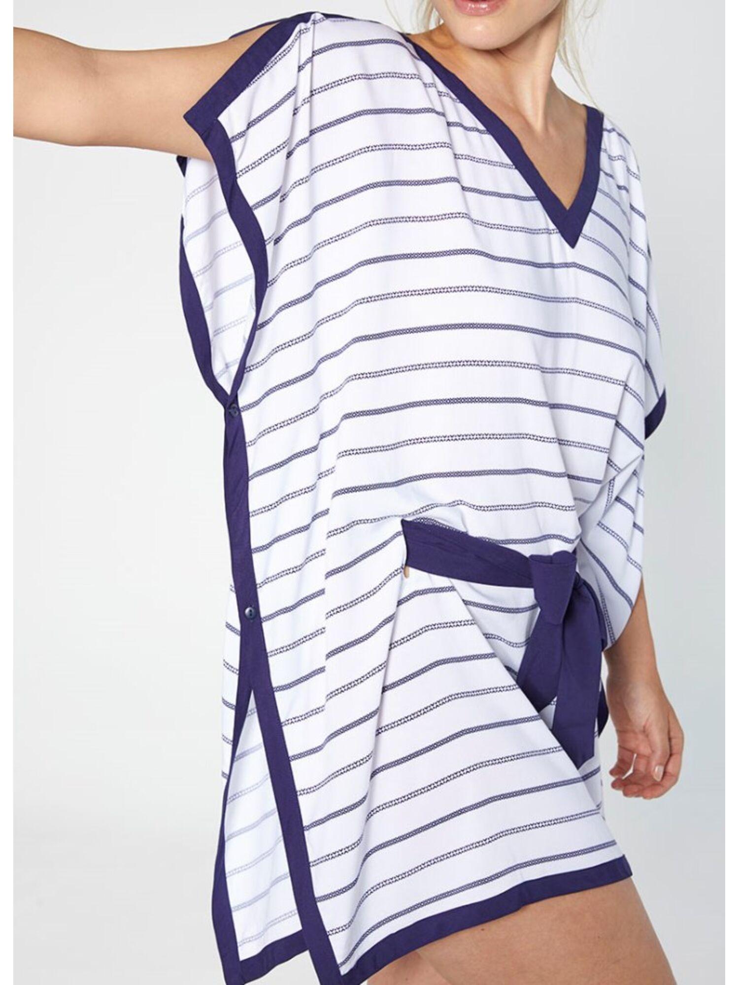 Женское платье-парео пляжное из вискозы 85667 белый, Ysabel Mora (Испания)