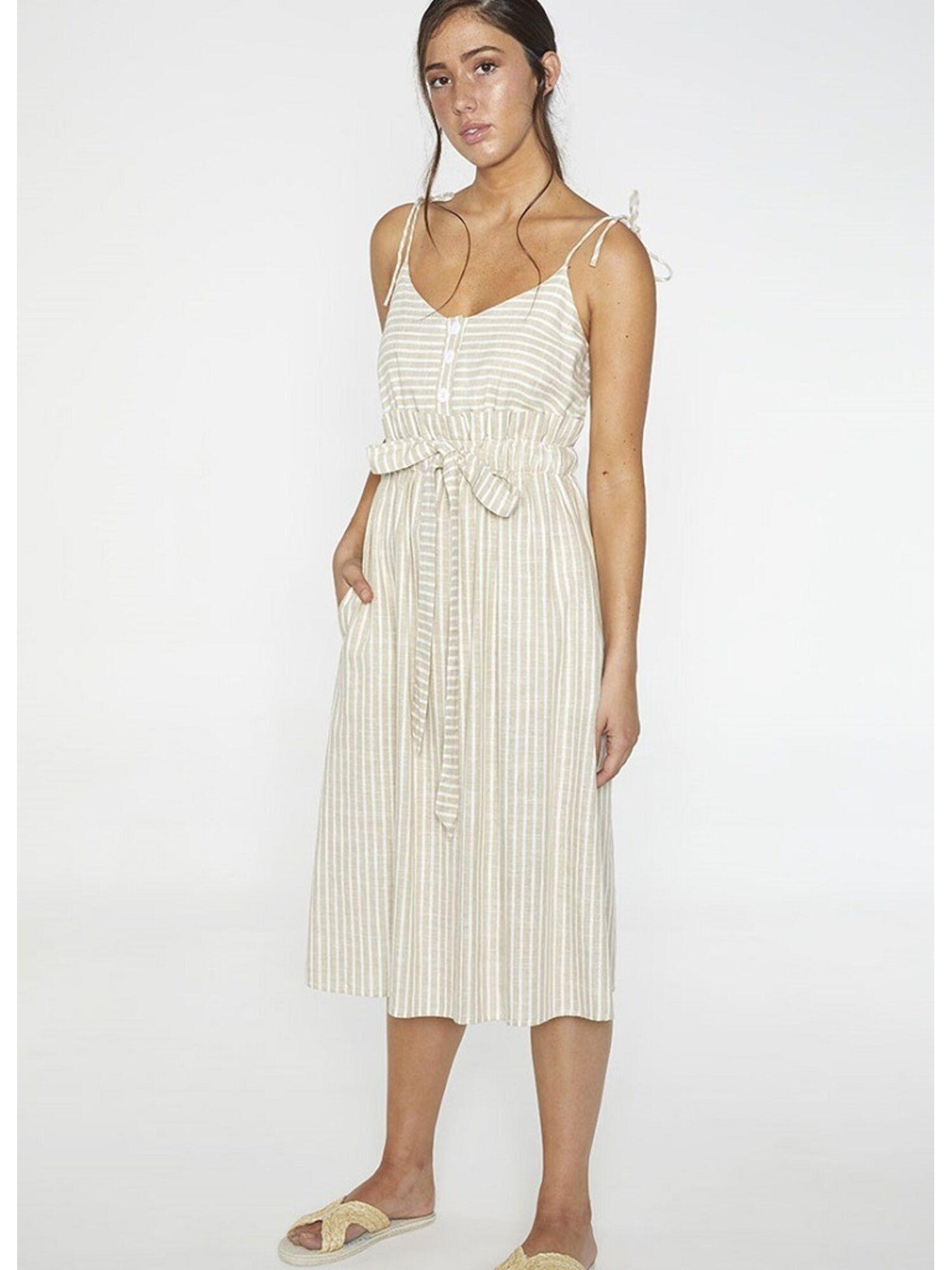 Женское платье пляжное из вискозы 85703 бежевый, Ysabel Mora (Испания)