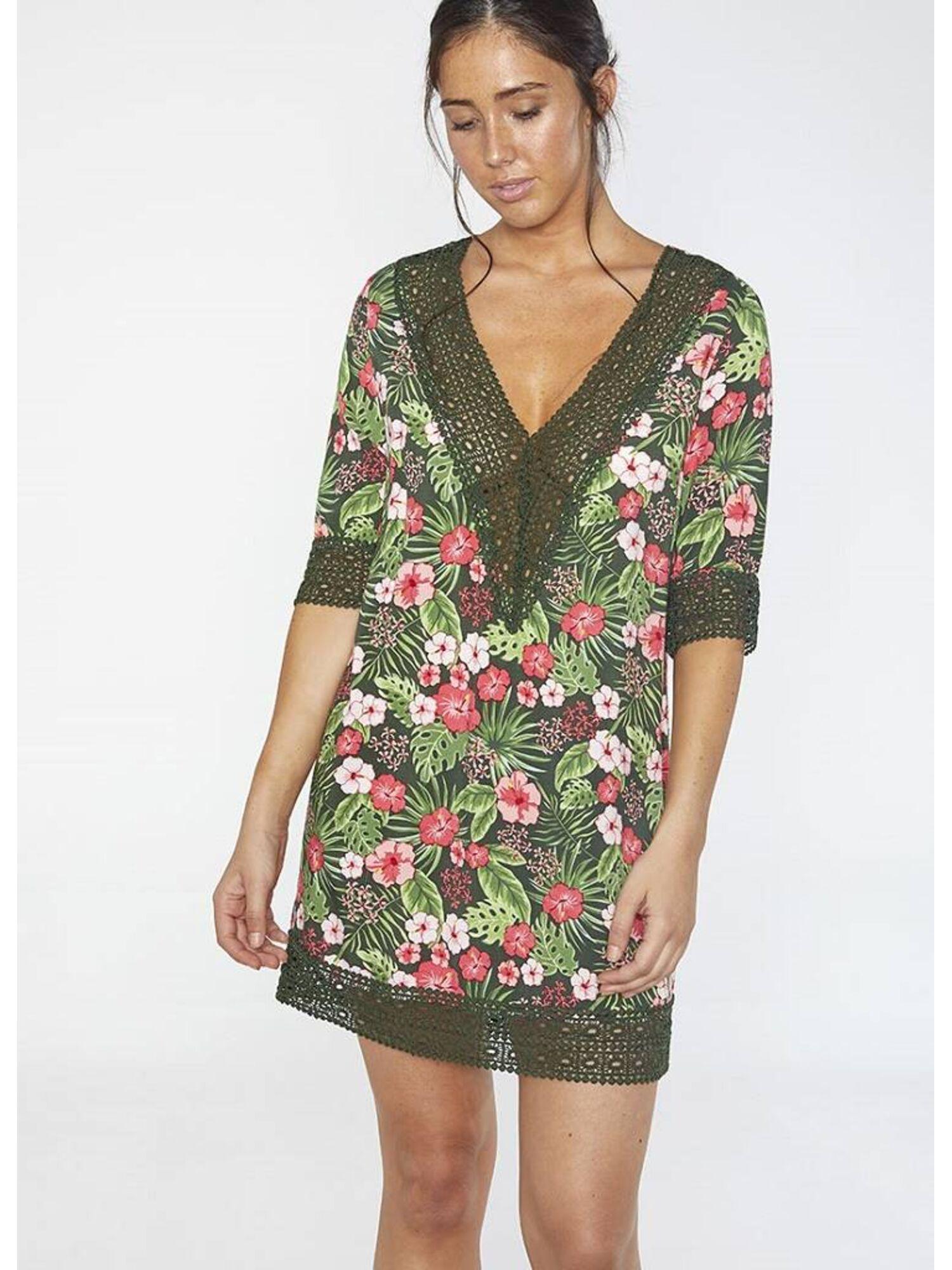 Женское платье пляжное из вискозы 85682 мульти, Ysabel Mora (Испания)